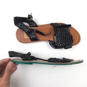 Dolce Vita Womens Black Strappy Sandals DR02048